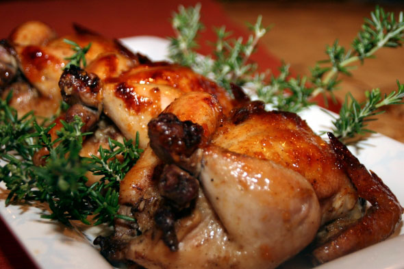 Roasted Cornish Hens with Riesling Citrus Sauce