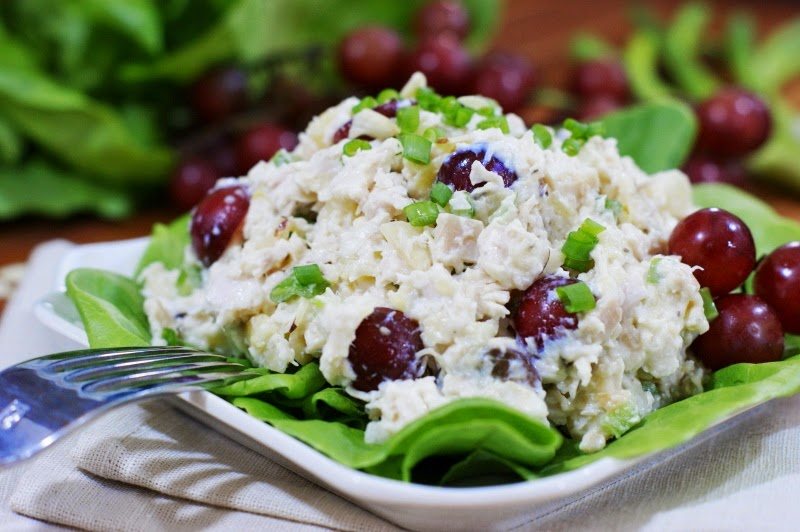 Orange Scented Chicken Salad with Pecans and Grapes