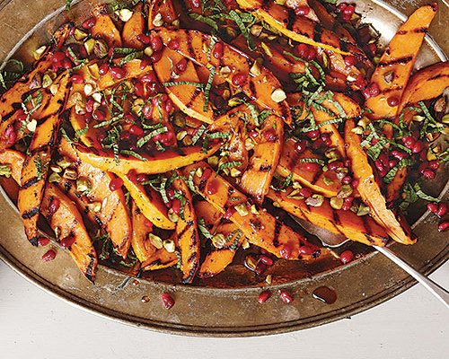 Grilled Sweet Potato and Pomegranate Salad