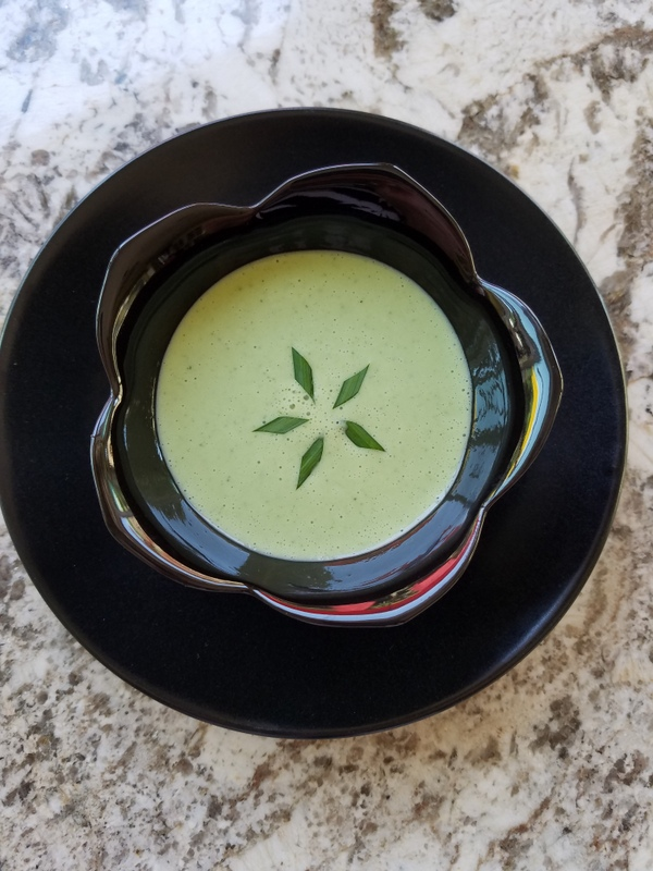 Chilled Cucumber and Chive Soup