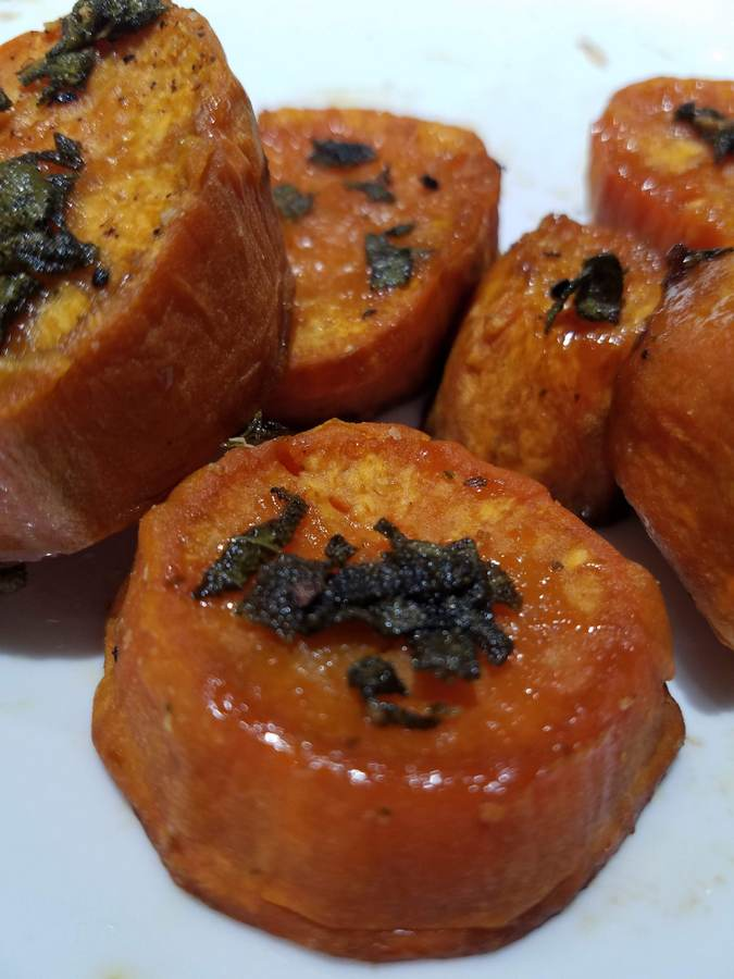 Glazed Sage Sweet Potato Medallions