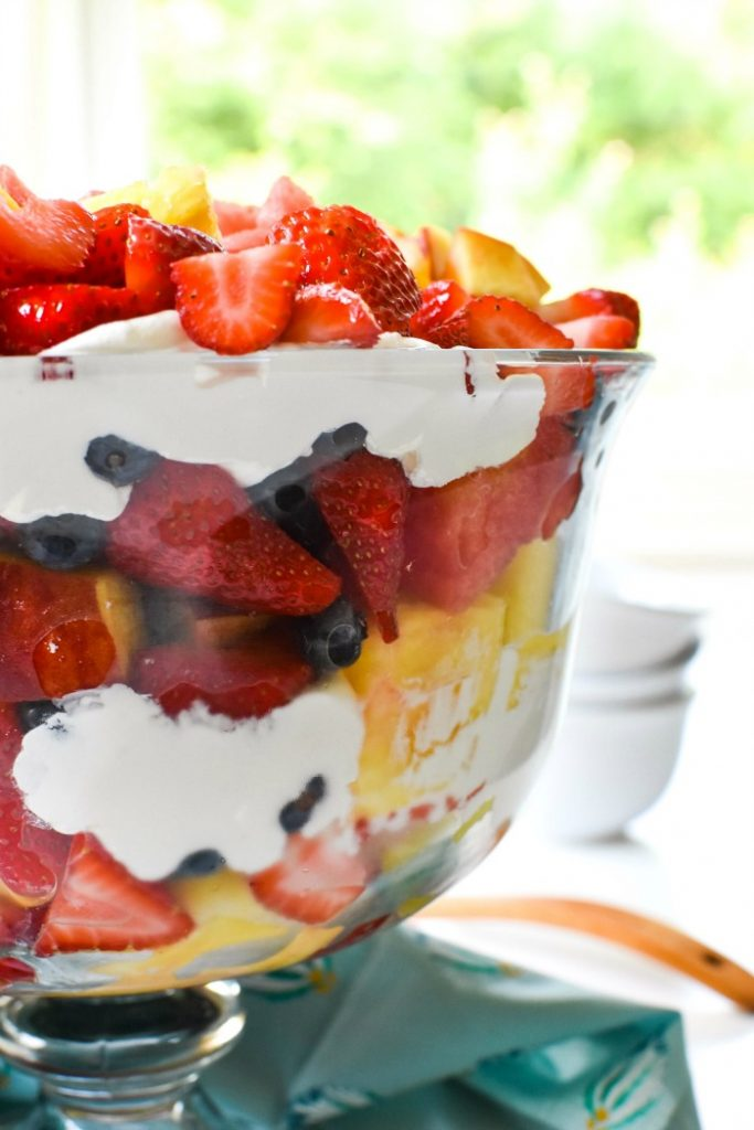 Decadent Summer Fruit Trifle with Coconut