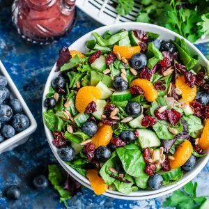 Spinach Salad with Blueberries, Oranges and Almonds